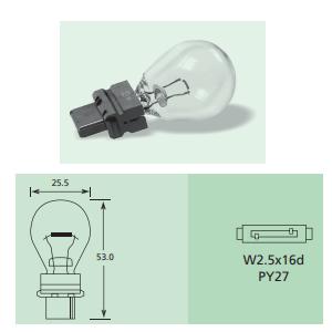Lucas LLB233 12V 4W Sidelight Bulb T4W BA9S Pack of 2