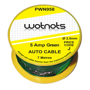 Green Pearl PWN958 Wiring Cable Reel 5 A